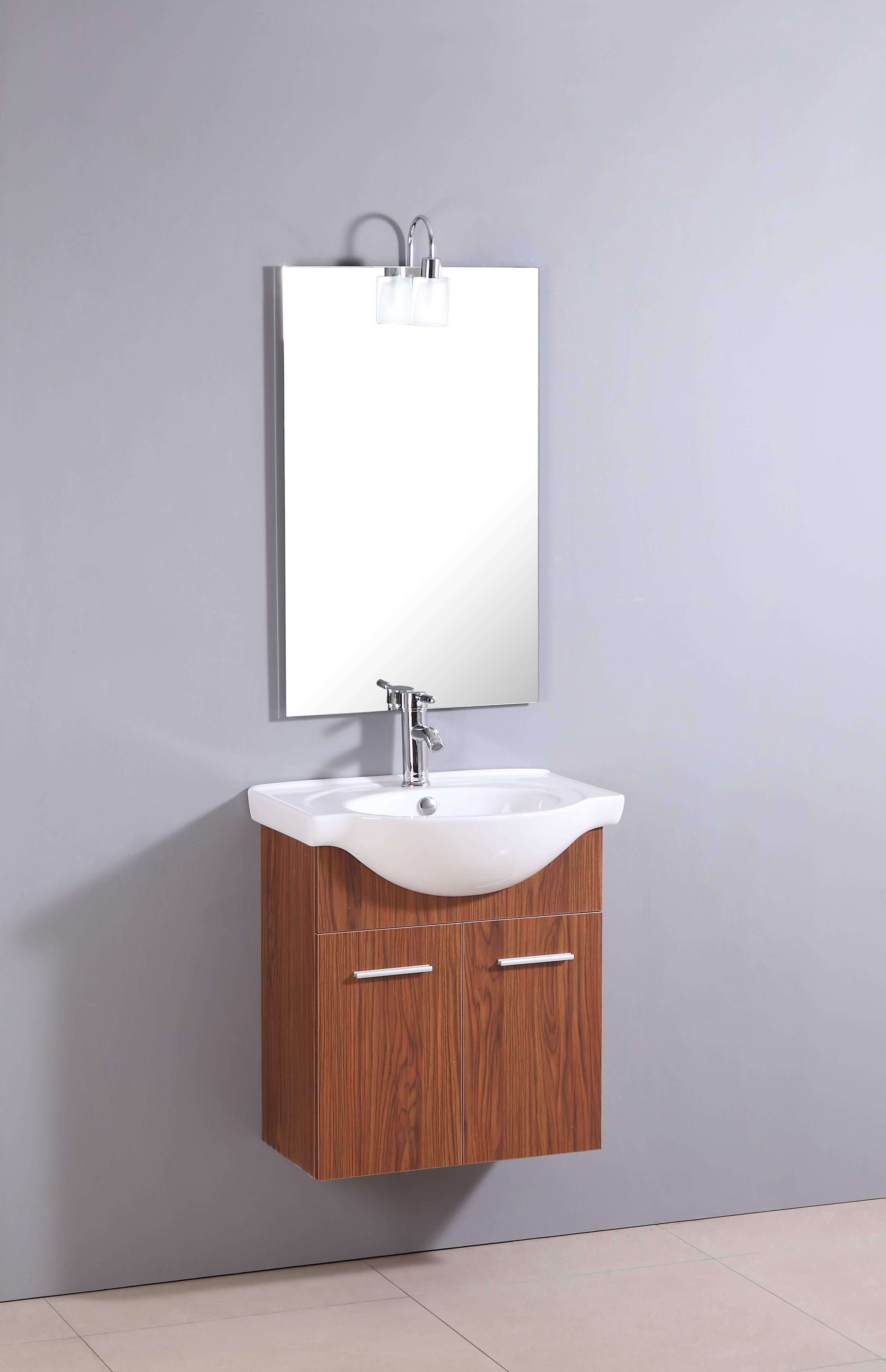 design waschtisch g ste wc mit armatur spiegel und beleuchtung sofort 6042 ebay. Black Bedroom Furniture Sets. Home Design Ideas